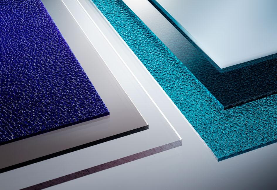 Platten aus PVC hart dunkelgrau RAL 7011